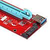 Адаптер Riser Card VER007S PCI-E extender 60см USB 3.0, фото 3
