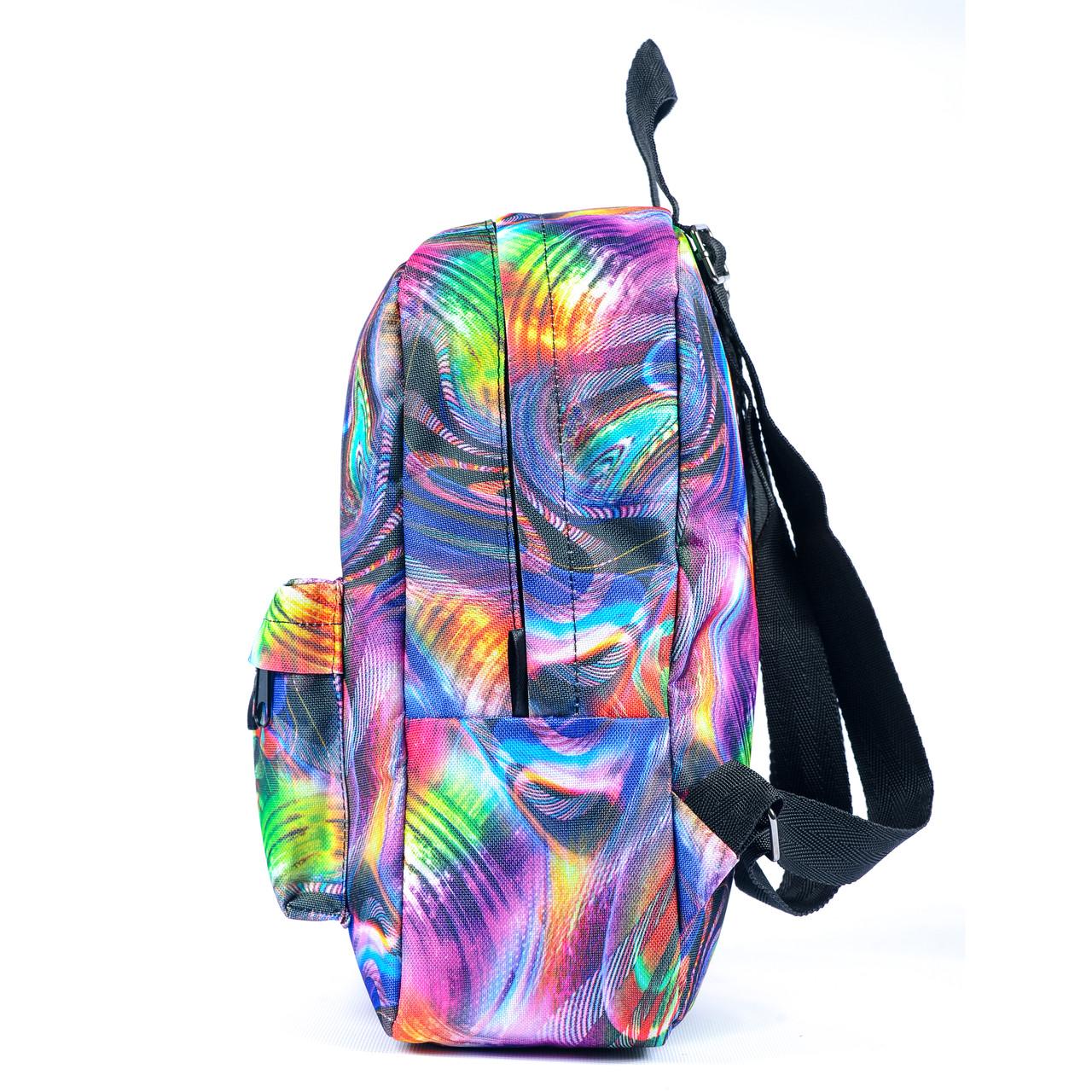 Рюкзак Mayers молодежный с принтом Разноцветные разводы, 7.5 л, фото 5