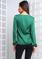 Шелковая блузка со шнуровкой, фото 1