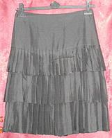 Черная шелковая юбка