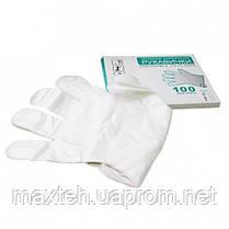 Перчатки одноразовые полиэтиленовые 100шт. Размер M
