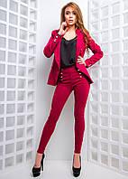 Замшевый брюки  с золотистыми пуговицами , фото 1