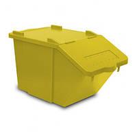 Контейнер с крышкой 45л SPLI желтый