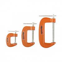 Набор: струбцины G-образные, 3 шт., 25-50-75 мм // SPARTA