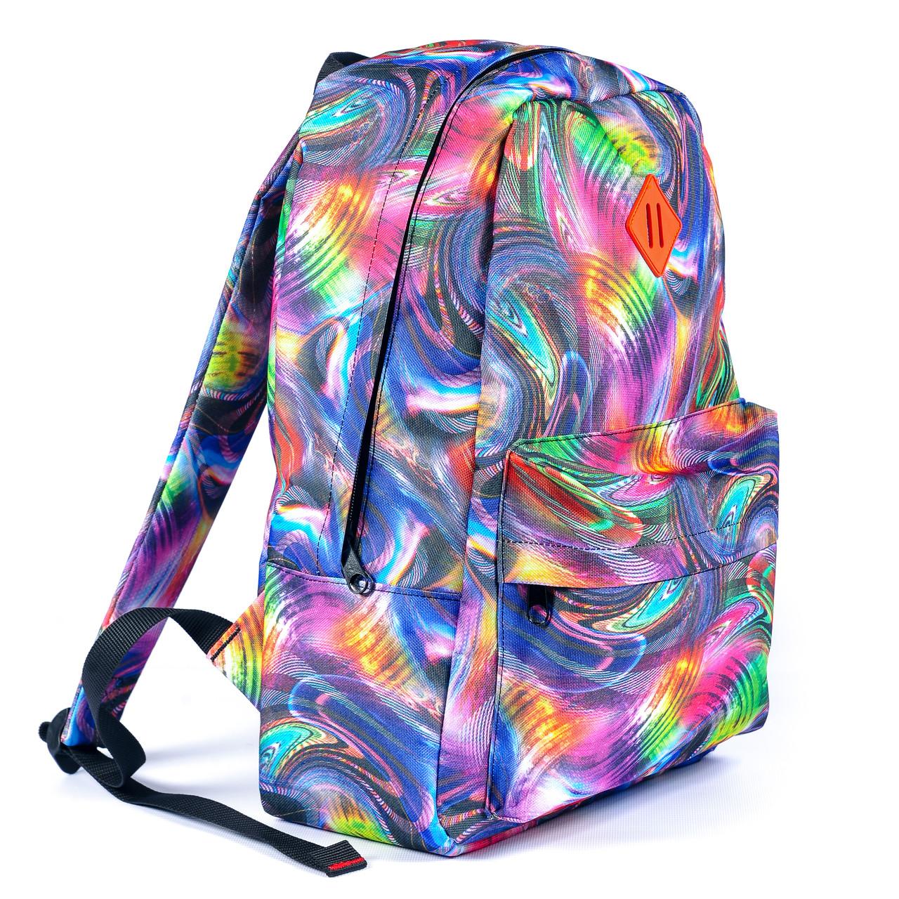 Рюкзак Mayers молодежный с принтом Разноцветные разводы, 14 л, фото 2
