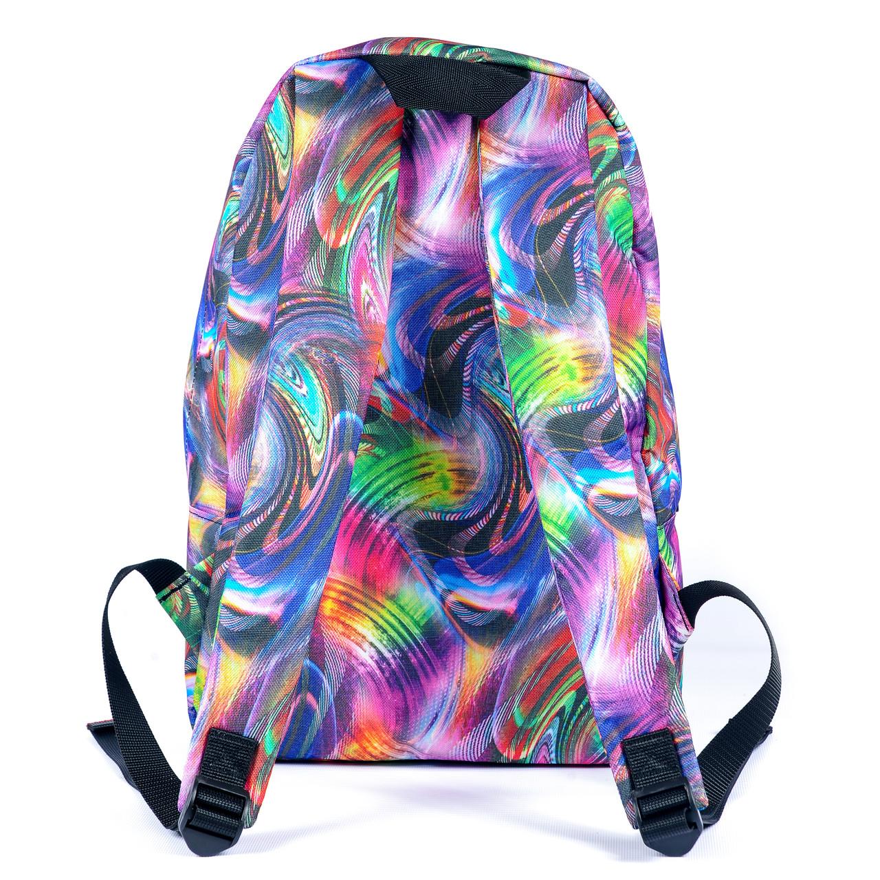 Рюкзак Mayers молодежный с принтом Разноцветные разводы, 14 л, фото 3