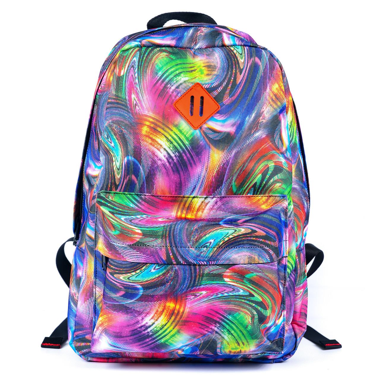 Рюкзак Mayers молодежный с принтом Разноцветные разводы, 14 л, фото 7