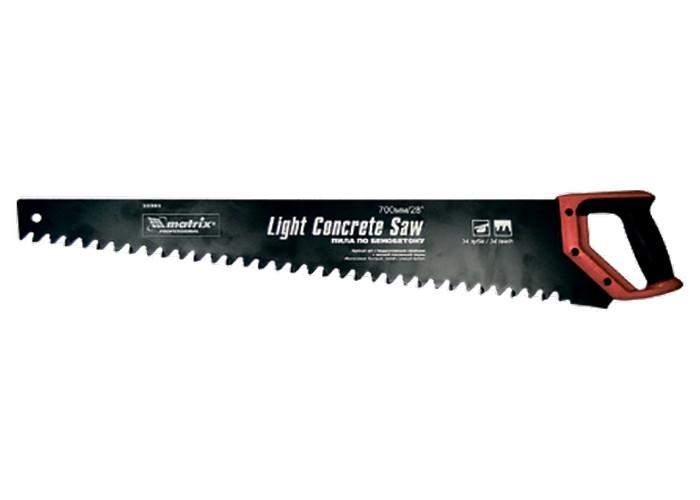 Ножовка по пенобетону, 500 мм, твердосплавные напайки, защитное покрытие полотна // MTX 233809