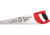 Ножовка по дереву, 400 мм, 7-8 TPI, зуб - 3D, закаленный зуб, двухкомпонентная рукоятка // MTX