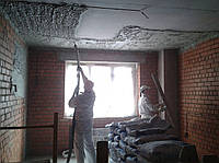 Оштукатуривание потолков машинным способом