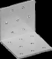 Угловая пластина равносторонняя перфорированная 100х100х40х1,8