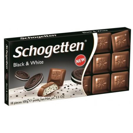 Шоколад молочный Schogetten Black&White (Печенье ОREO), 100г