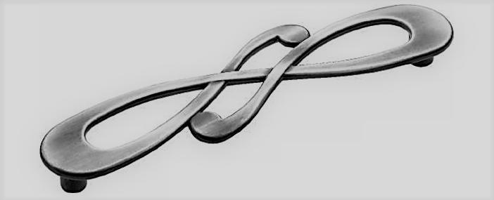 Ручка DG 5521-084 ALEYNA 128мм Серебро