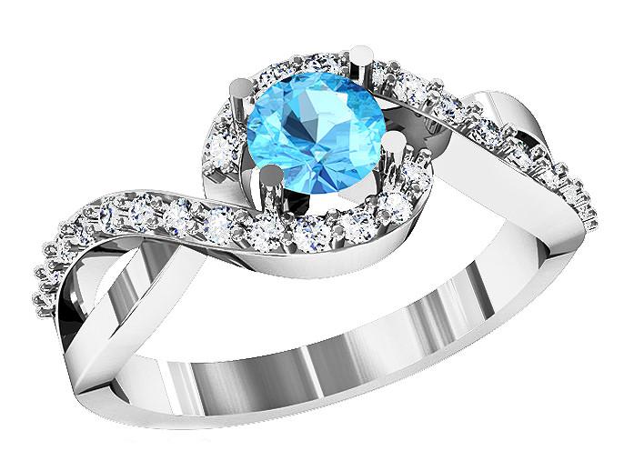 Кольцо  женское серебряное Blue Lake 213 220