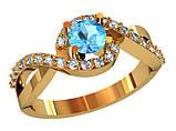 Кольцо  женское серебряное Blue Lake 213 220, фото 2