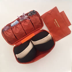 Органайзер для бюстгальтера и нижнего белья - футляр для косметики и туалетных принадлежностей (оранжевый)