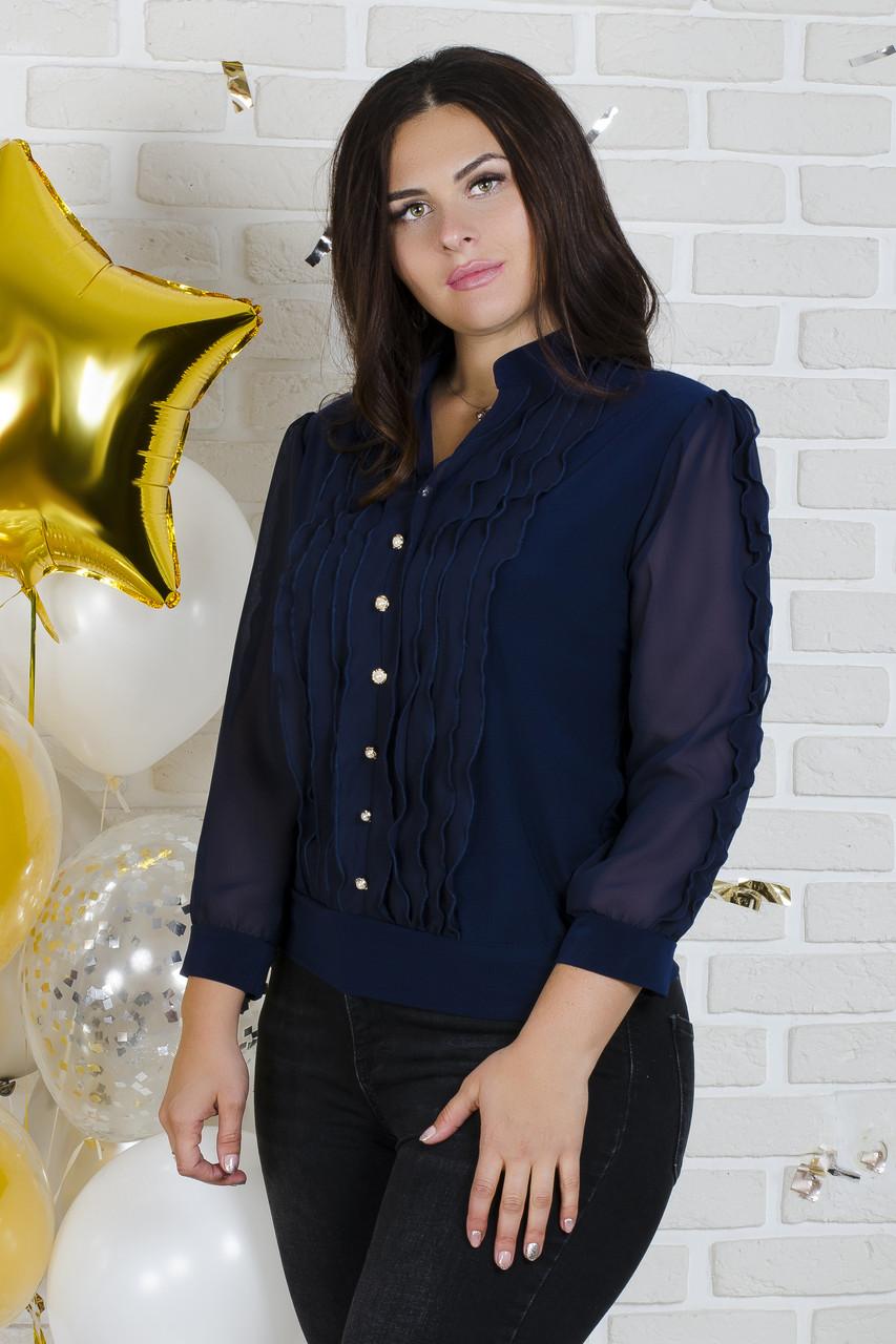 54dbadd5898 Женская блуза из трикотажа от 50 до 62 размера
