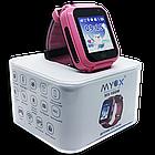 Детские водонепроницаемые GPS часы MYOX МХ-16GW розовые (камера+фонарик), фото 5