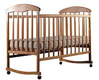Детская кроватка Наталка на полозьях ольха светлая