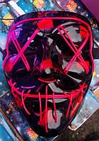 Маска Судная ночь Led mask светящаяся маска, фото 1