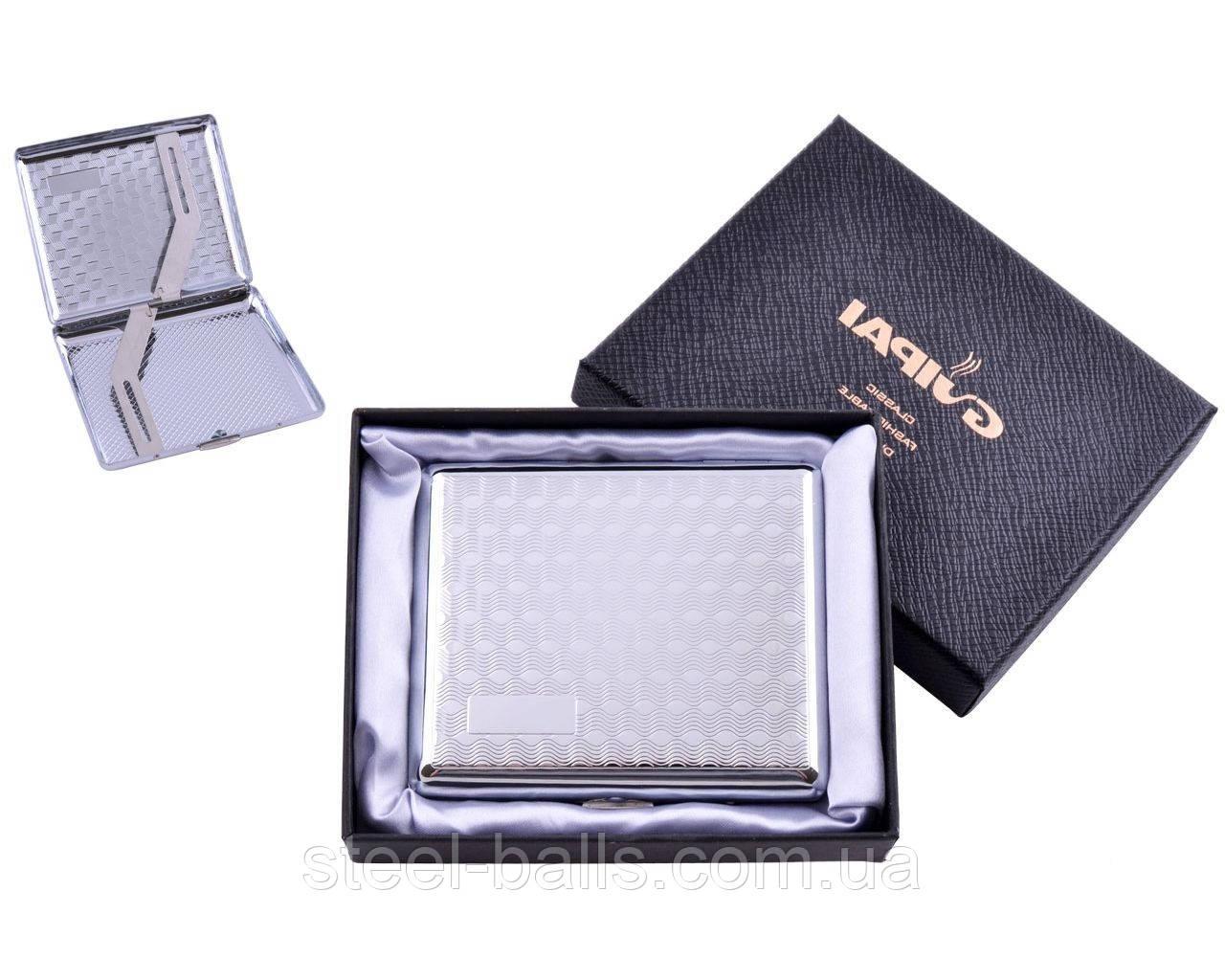 Портсигар классический на 20 сигарет в подарочной коробке