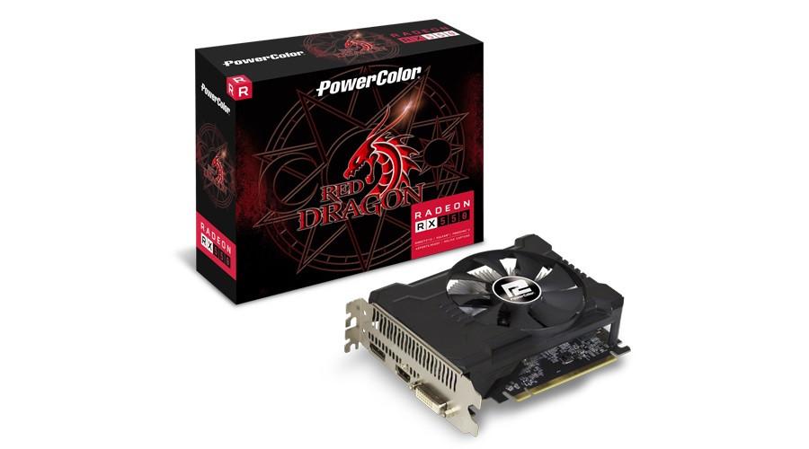 Видеокарта AMD RX 550 PowerColor (AXRX 550 2GBD5-DHA/OC)