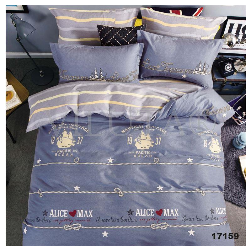 Комплект постельного белья евро Вилюта ранфорс 17159