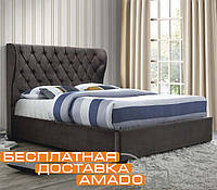 Кровать  с подъёмным механизмом 1,6 Империя (ТК темный мокко)