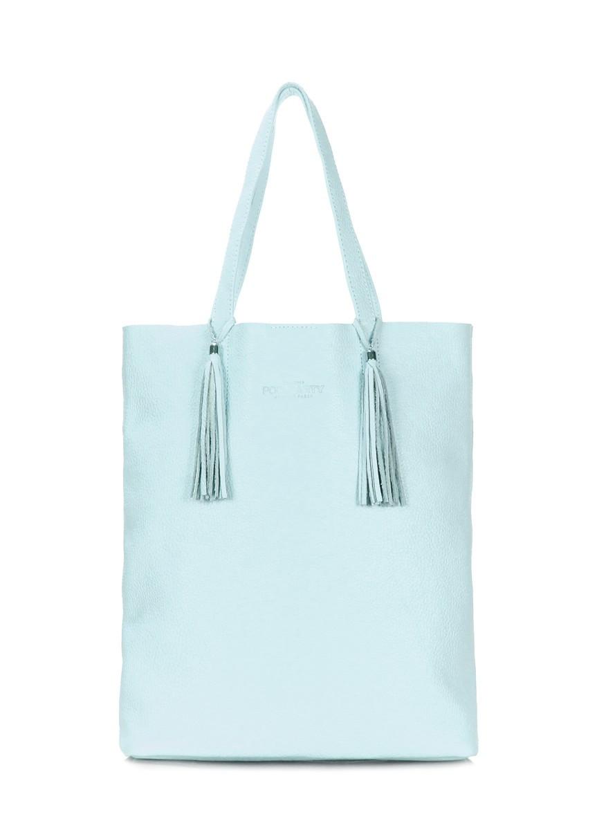 4807fe51669e Голубая кожаная сумка POOLPARTY Angel - Сумки Ремни Кошельки в Днепре