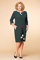 Платье женское Беларусь модель Р-1456-18 зеленое