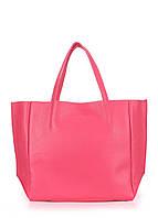 Кожаная женская сумка малиновая POOLPARTY Soho
