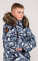Зимняя куртка для мальчика Baby Line Альпы Z321-19 Черная с белым