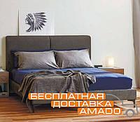 Кровать с мягким изголовьем 1,6 Милано (ТК грей сэнд) Domini