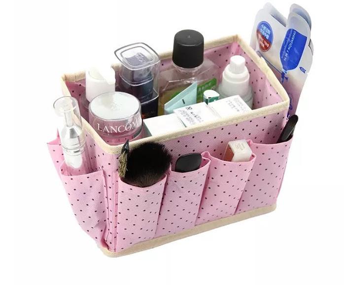 Органайзер для косметики и принадлежностей (розовый)