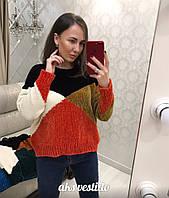 Женский оригинальный велюровый свитер (3 цвета), фото 1