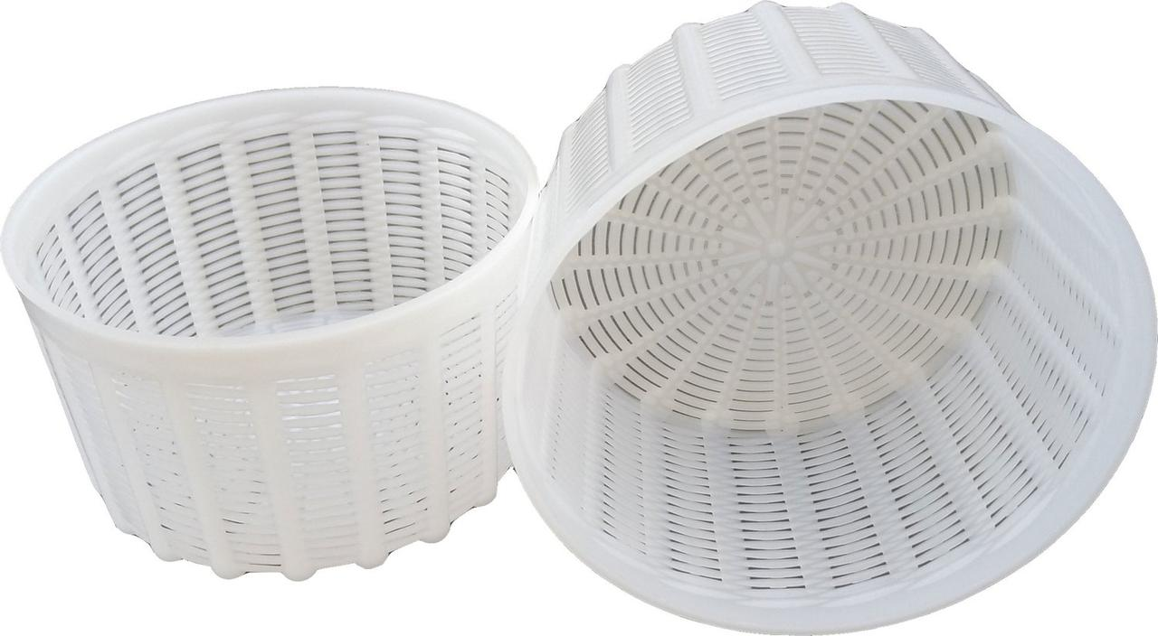 Форма для приготовления мягких сыров на 1,2 литра Ø145 мм пластиковая (ЧП КВВ)