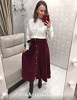 Женская элегантная юбка миди, фото 1