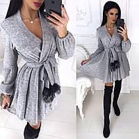 Женское модное теплое платье