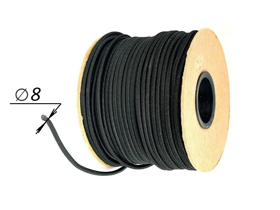 Эспандер- эластичный шнур Ø 8 - 50 метров в защитной оплётке для тента