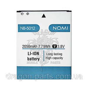 Аккумулятор Nomi i5012/i5013  (АКБ, Батарея) NB-5012 , оригинал, фото 2