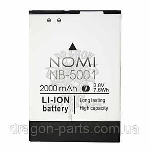 Аккумулятор Nomi i5001 Evo M3 (АКБ, Батарея) NB-5001, оригинал, фото 2