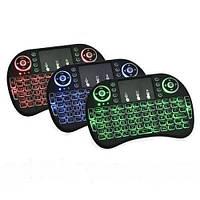 Клавиатура KEYBOARD wireless MWK08/i8 LED touch с подсветкой, светящаяся мини-клавиатура