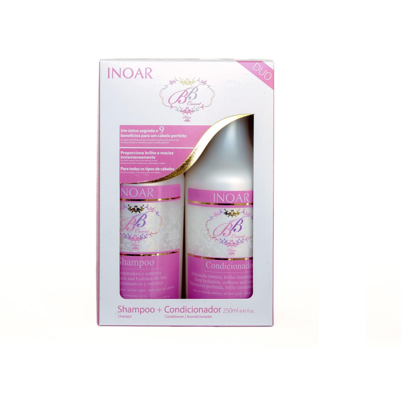 Безсульфатный набор ББ защита волос от солнца, 2х250 мл