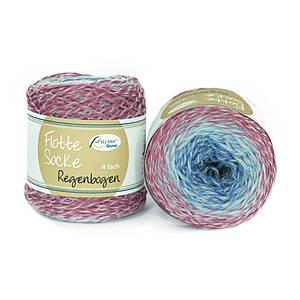 Носочная пряжа Flotte Socke Regenbogen 75% шерсть суперуош 25% полиамида,420м/100г