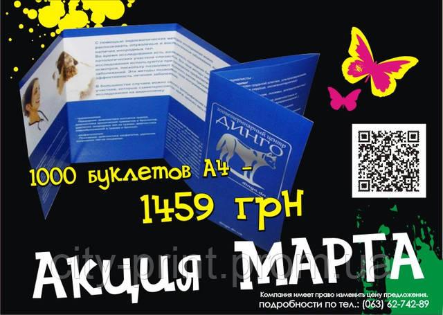 Печать буклетов - наша акция марта!