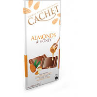 CACHET Молочный шоколад с миндалем и медом, 100g Бельгия