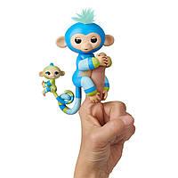 WowWee Fingerlings Glitter Monkey & Mini BFFs  Интерактивная обезьянка с малышом