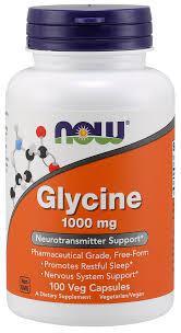 NOW Foods Glycine 1000mg 100 caps