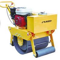Виброкаток дорожный одновальцeвый ручной Furd FYL-450 двигатель Honda GX160