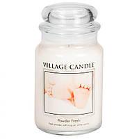 Свеча ароматическая Village Candle Пудровая свежесть (XL)